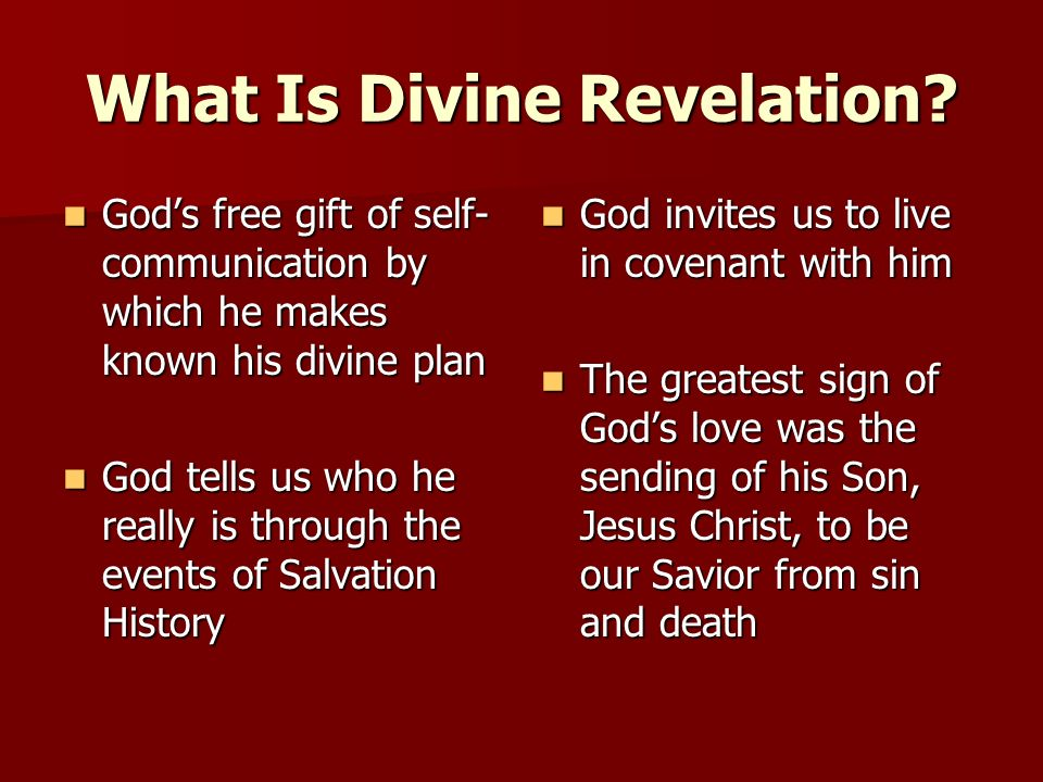 What Is Divine Revelation