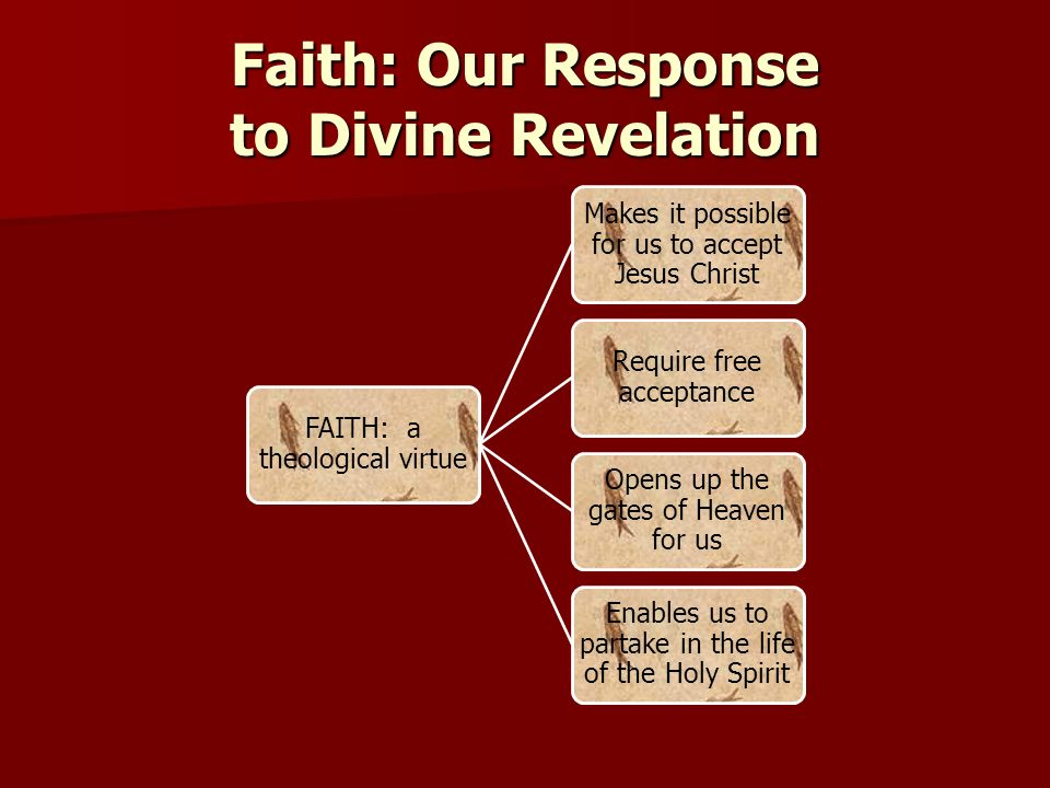 Faith: Our Response to Divine Revelation