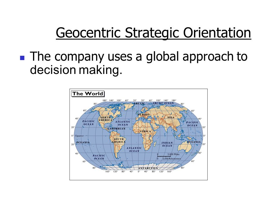 Geocentric Strategic Orientation