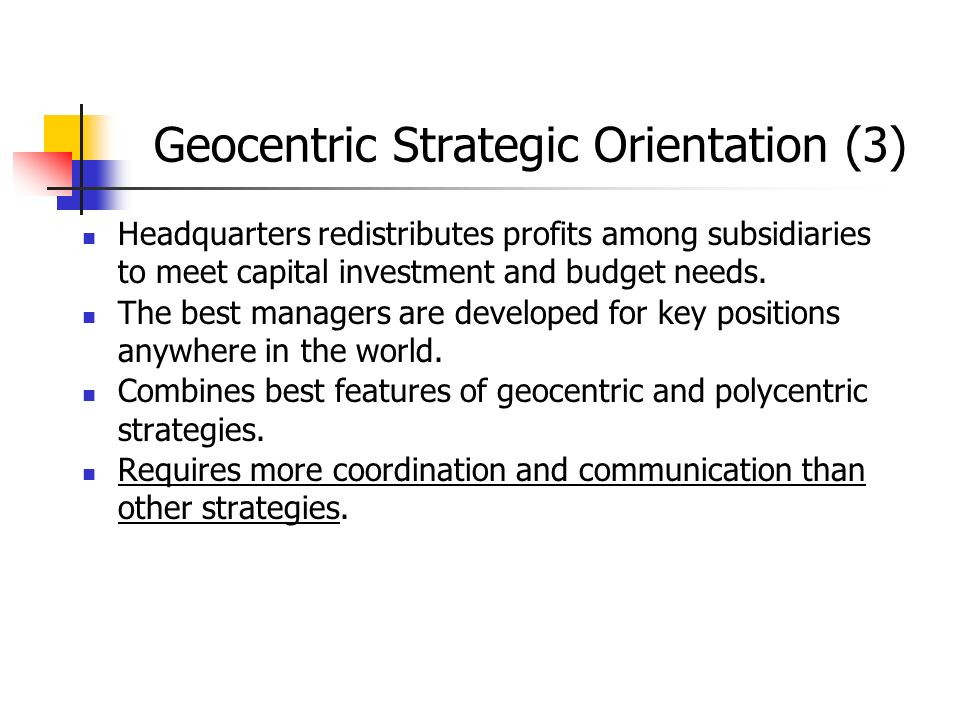 Geocentric Strategic Orientation (3)