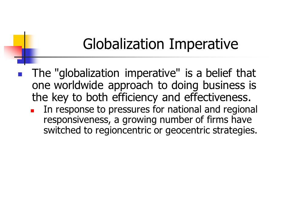 Globalization Imperative