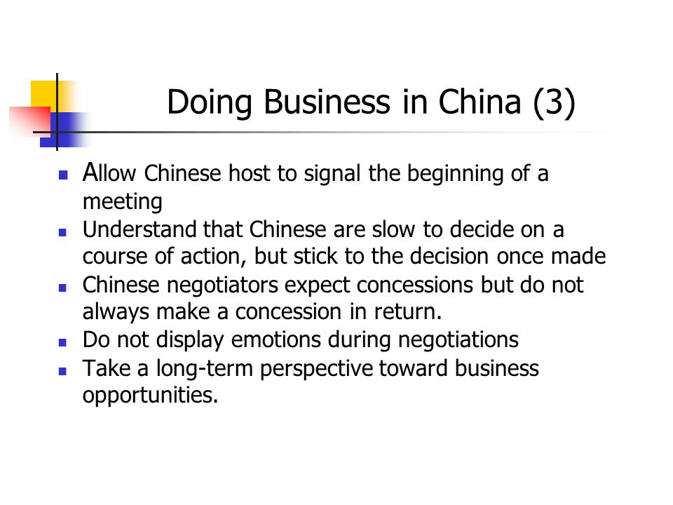 Doing Business in China (3)