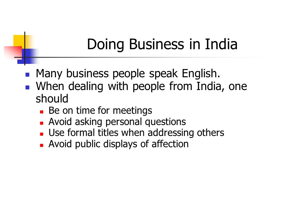 Doing Business in India
