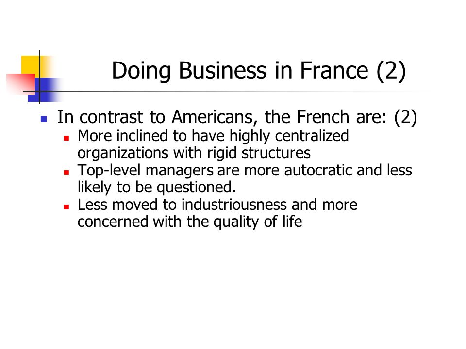 Doing Business in France (2)