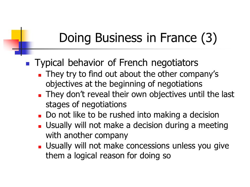 Doing Business in France (3)