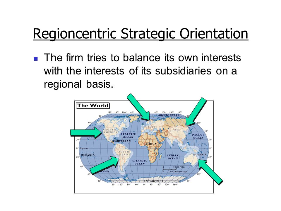 Regioncentric Strategic Orientation