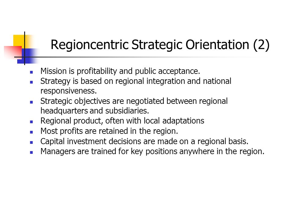 Regioncentric Strategic Orientation (2)