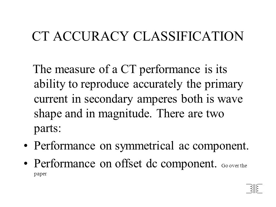 CT ACCURACY CLASSIFICATION