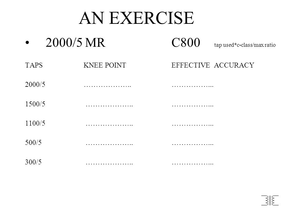 AN EXERCISE 2000/5 MR C800 tap used*c-class/max ratio