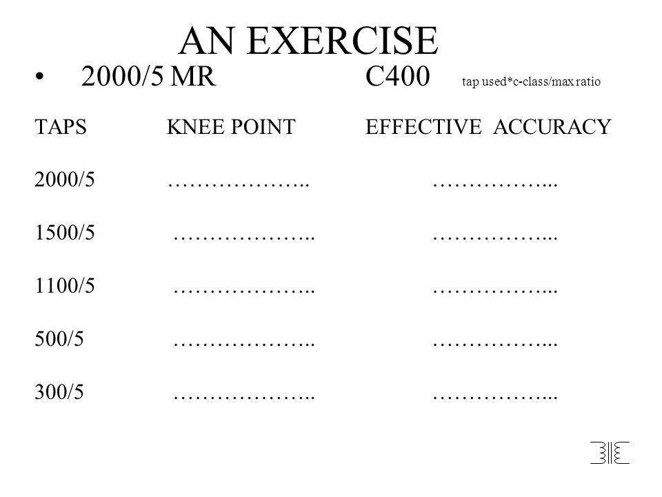 AN EXERCISE 2000/5 MR C400 tap used*c-class/max ratio