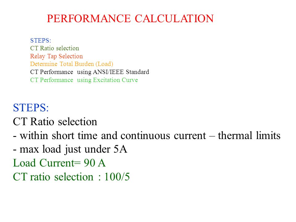 PERFORMANCE CALCULATION