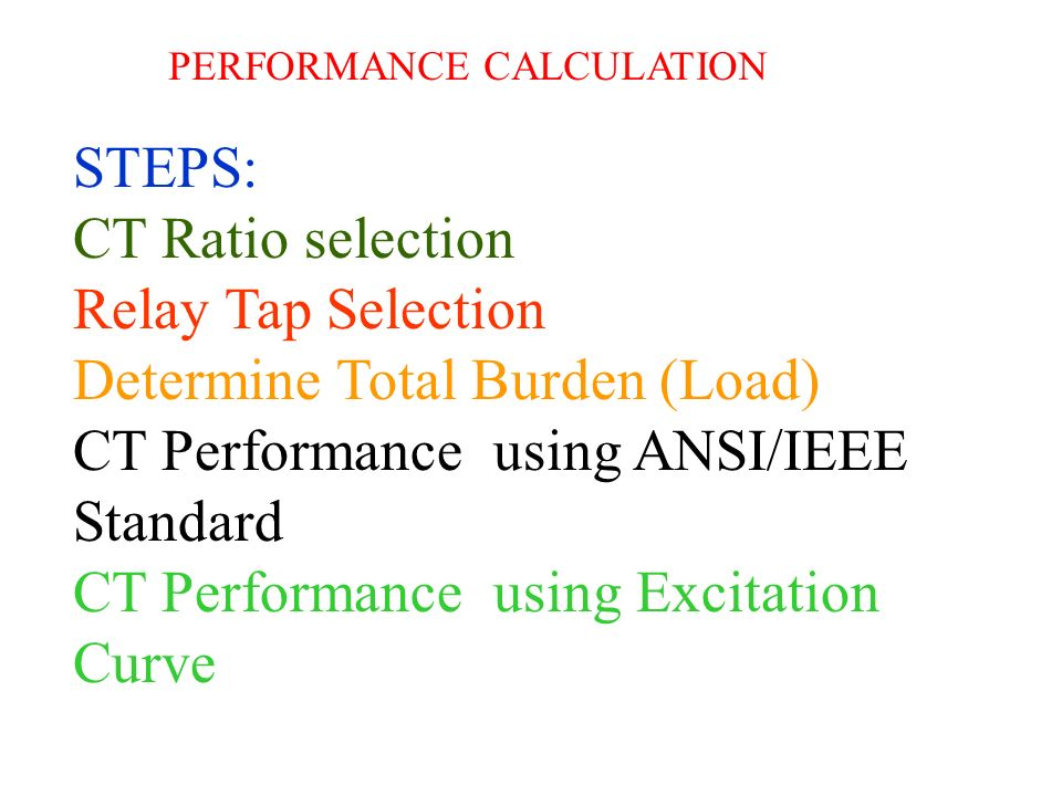 Determine Total Burden (Load) CT Performance using ANSI/IEEE Standard