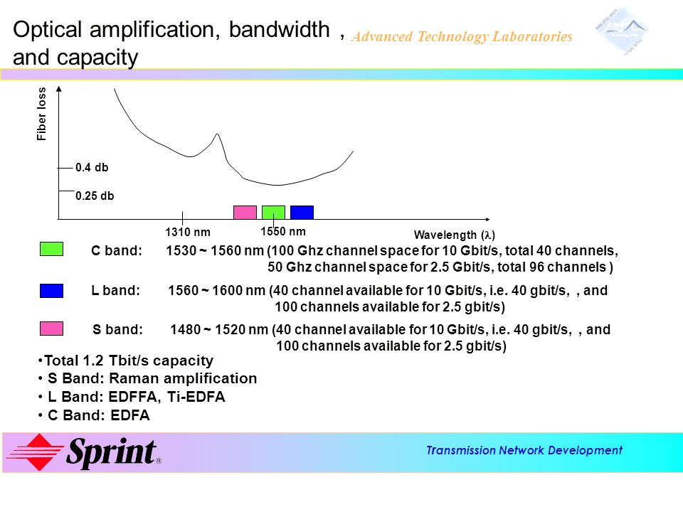 Optical amplification, bandwidth , and capacity