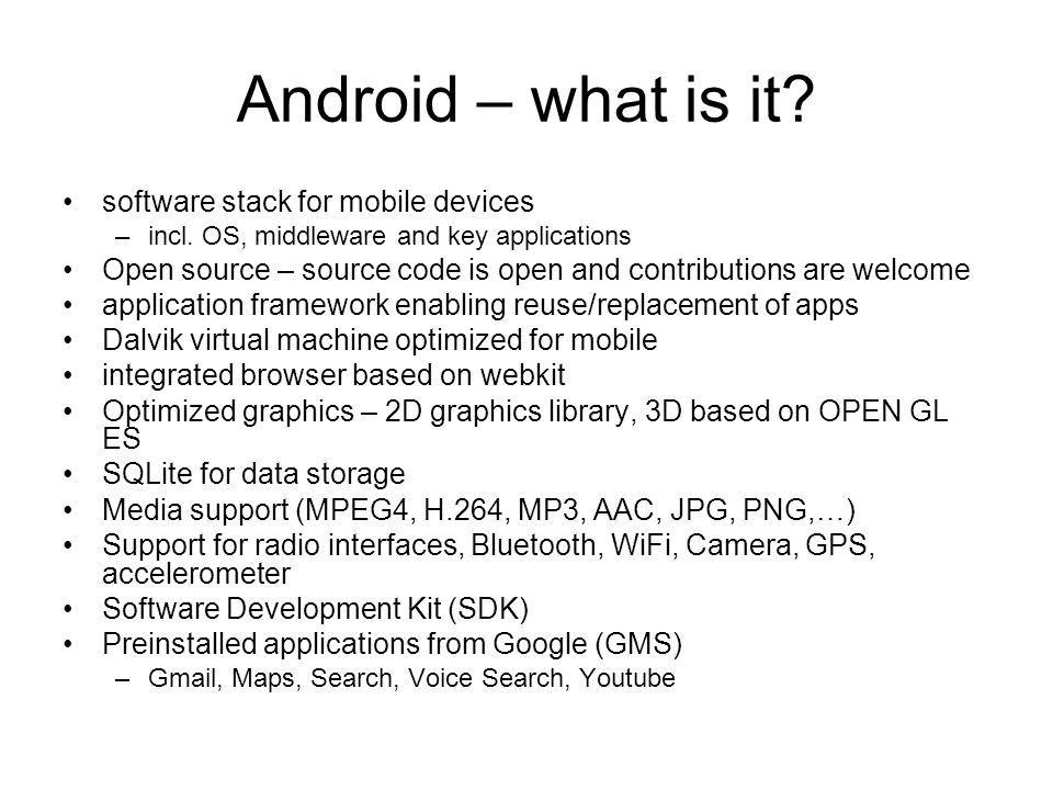 Android – what is it software stack for mobile devices
