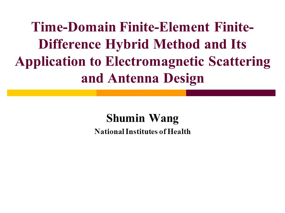 Shumin Wang National Institutes of Health
