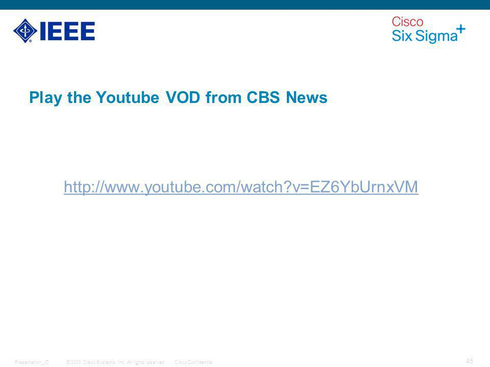 Play the Youtube VOD from CBS News