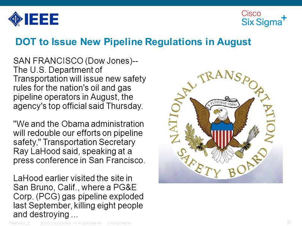 DOT to Issue New Pipeline Regulations in August