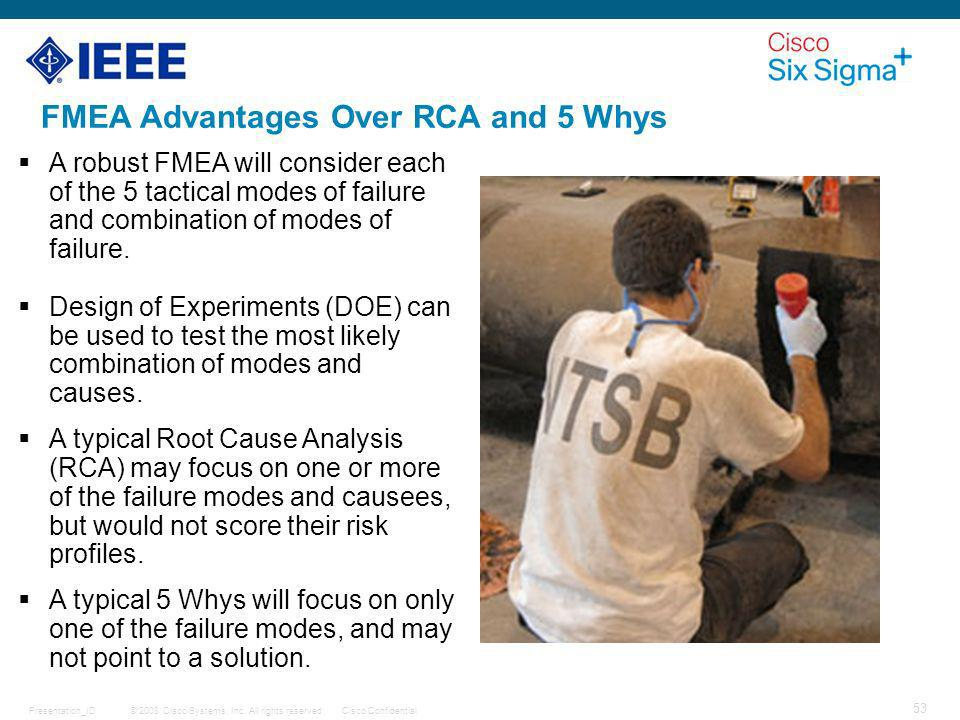 FMEA Advantages Over RCA and 5 Whys