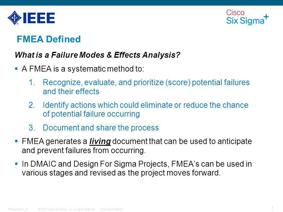 FMEA Defined What is a Failure Modes & Effects Analysis