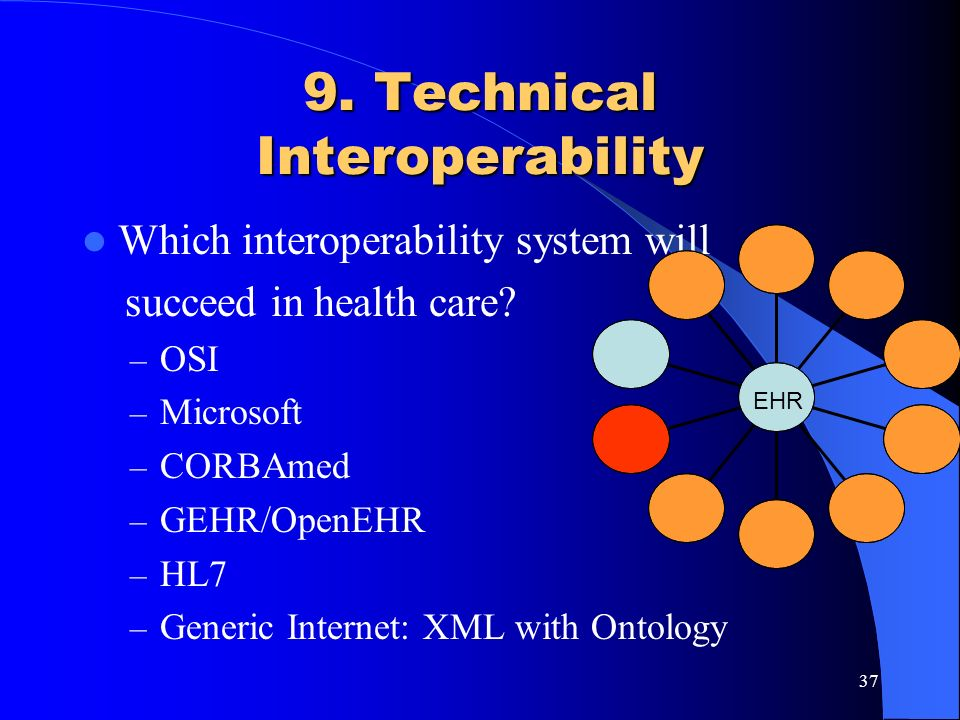 9. Technical Interoperability