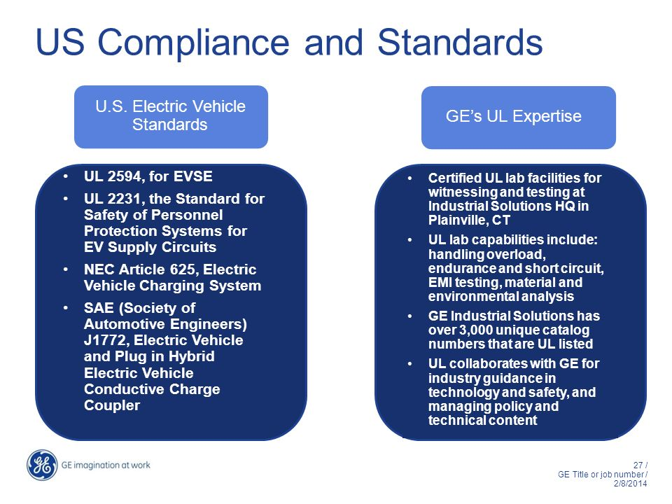 U.S. Electric Vehicle Standards