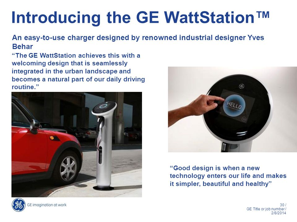 Introducing the GE WattStation™