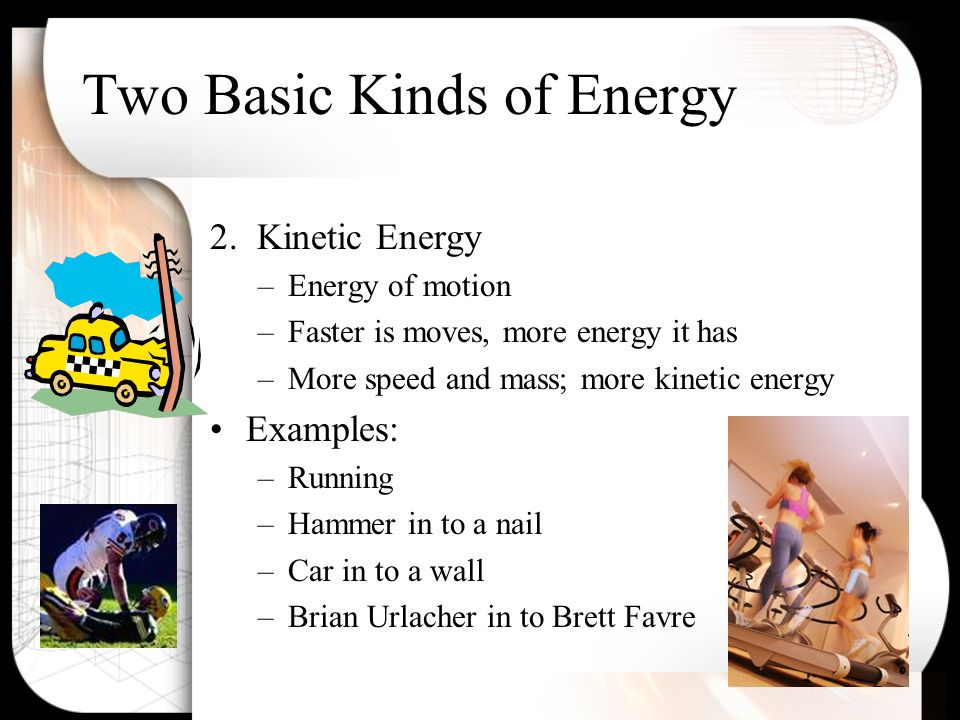 5 types of energy and examples