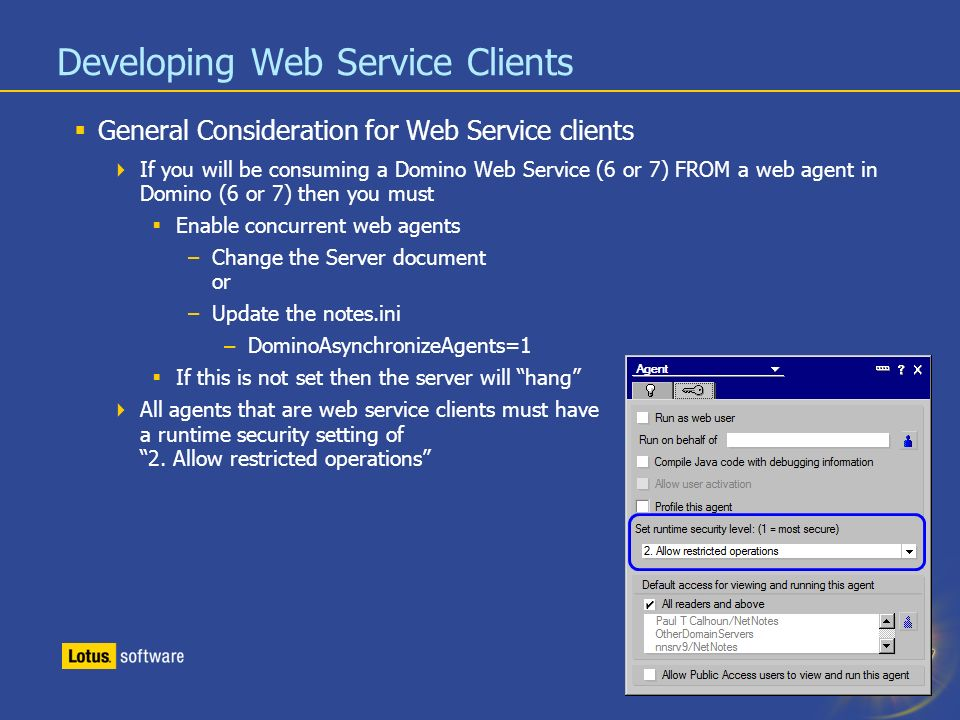 BP201: Coding Web Service Clients For IBM Lotus Domino - ppt download