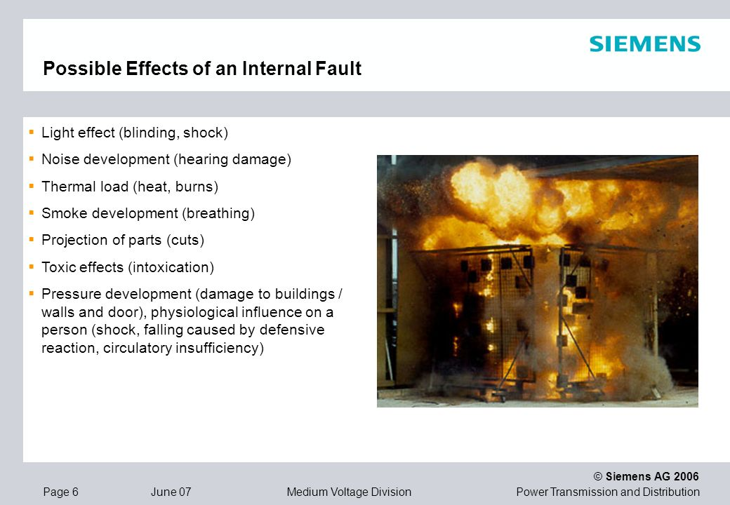 Possible Effects of an Internal Fault