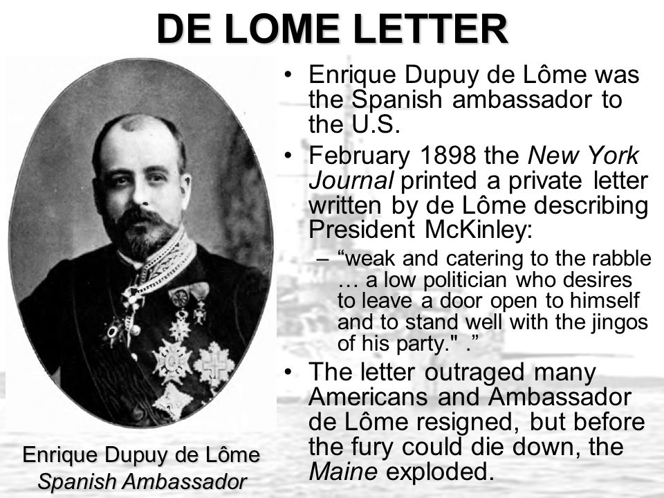 the de lome letter imperialism 1872 ppt 25145