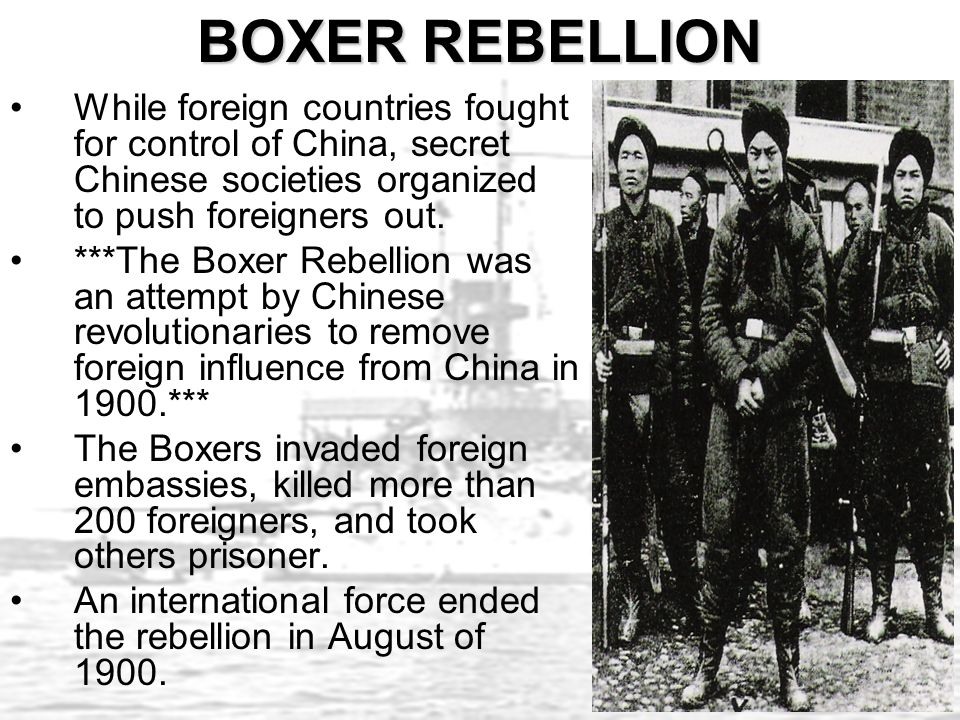 Image result for the boxer rebellion was an attempt by chinese revolutionaries to