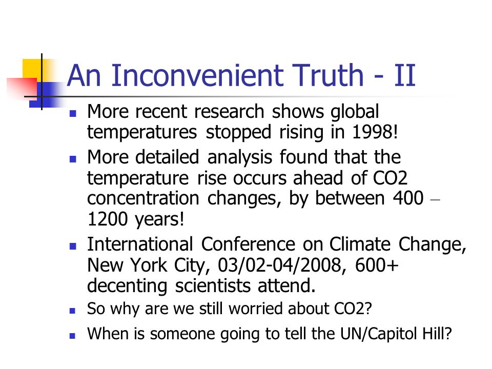 An Inconvenient Truth - II