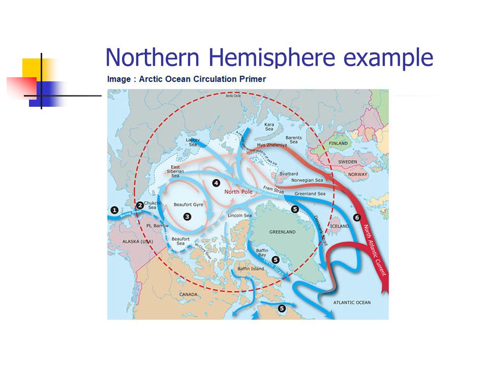 Northern Hemisphere example