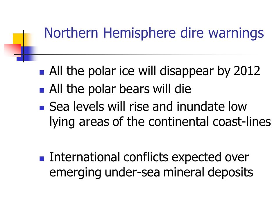 Northern Hemisphere dire warnings