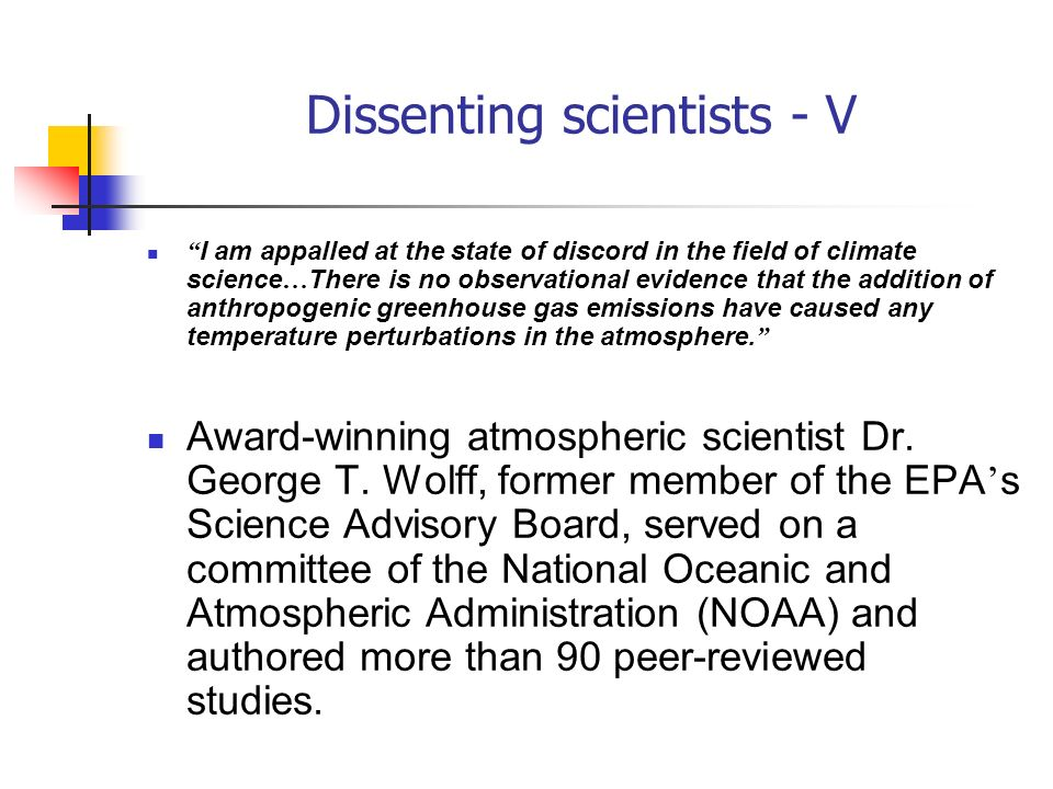 Dissenting scientists - V
