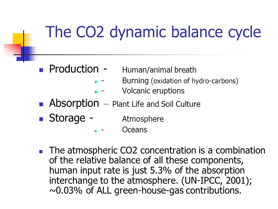The CO2 dynamic balance cycle