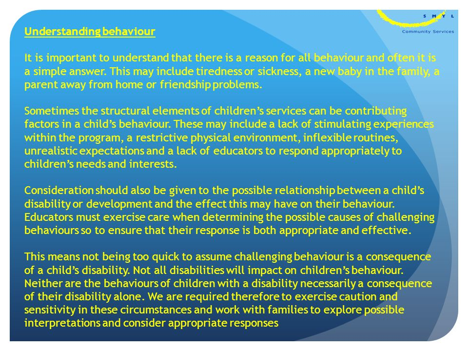 Challenging Behavior And Impact On >> Guiding Children S Behaviour Ppt Download