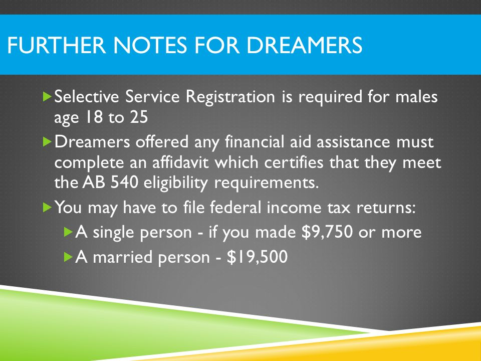 Further Notes for Dreamers