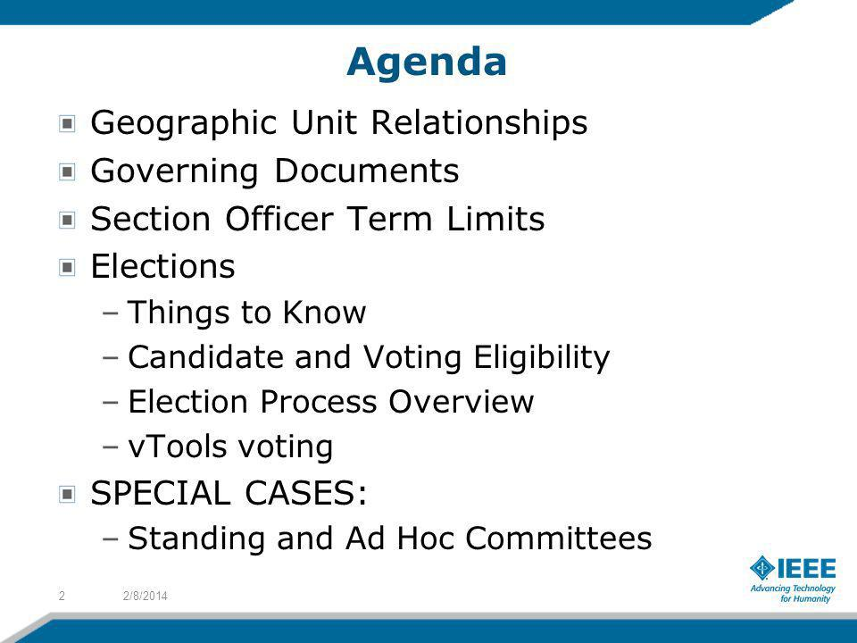 Agenda Geographic Unit Relationships Governing Documents