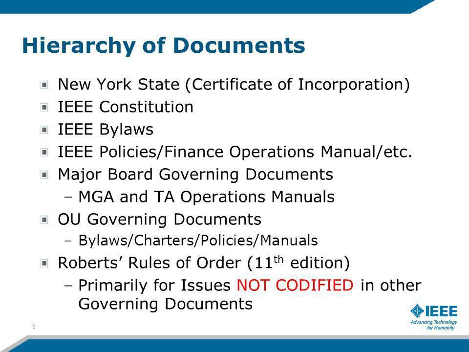 Hierarchy of Documents
