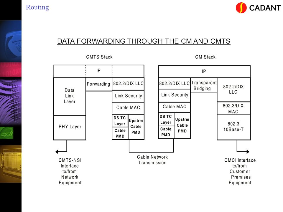 DATA FORWARDING THROUGH THE CM AND CMTS