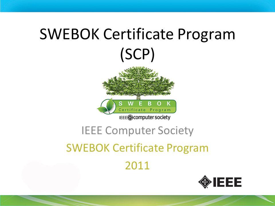 Swebok Certificate Program Scp Ppt Download