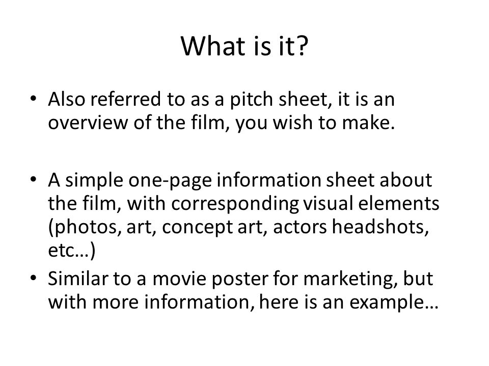 film proposal example