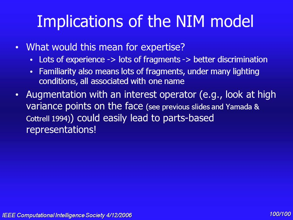 Implications of the NIM model