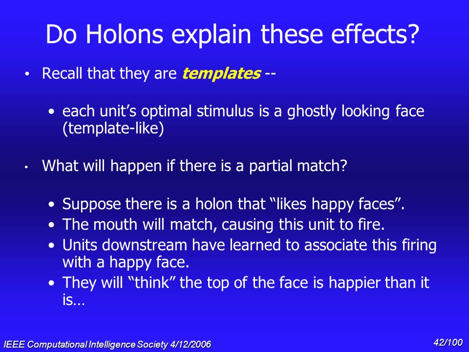 Do Holons explain these effects