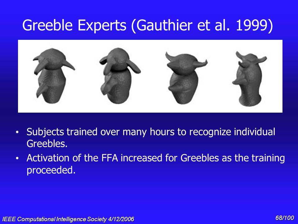 Greeble Experts (Gauthier et al. 1999)