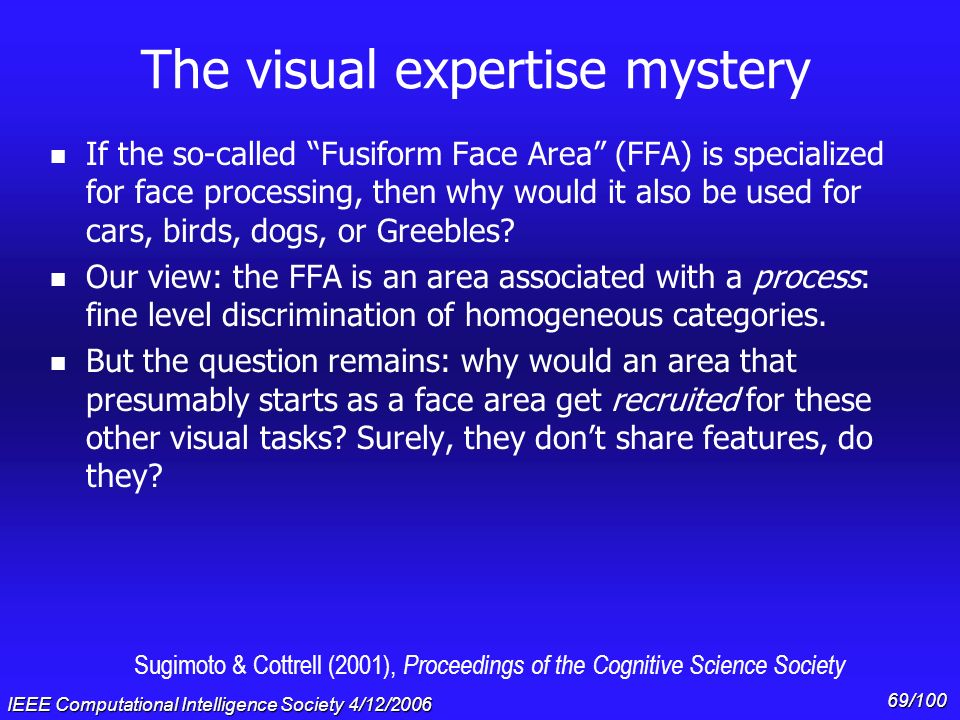 The visual expertise mystery