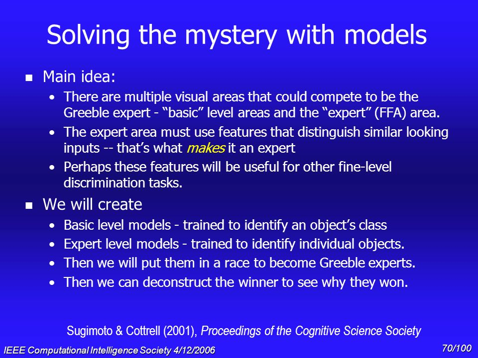 Solving the mystery with models