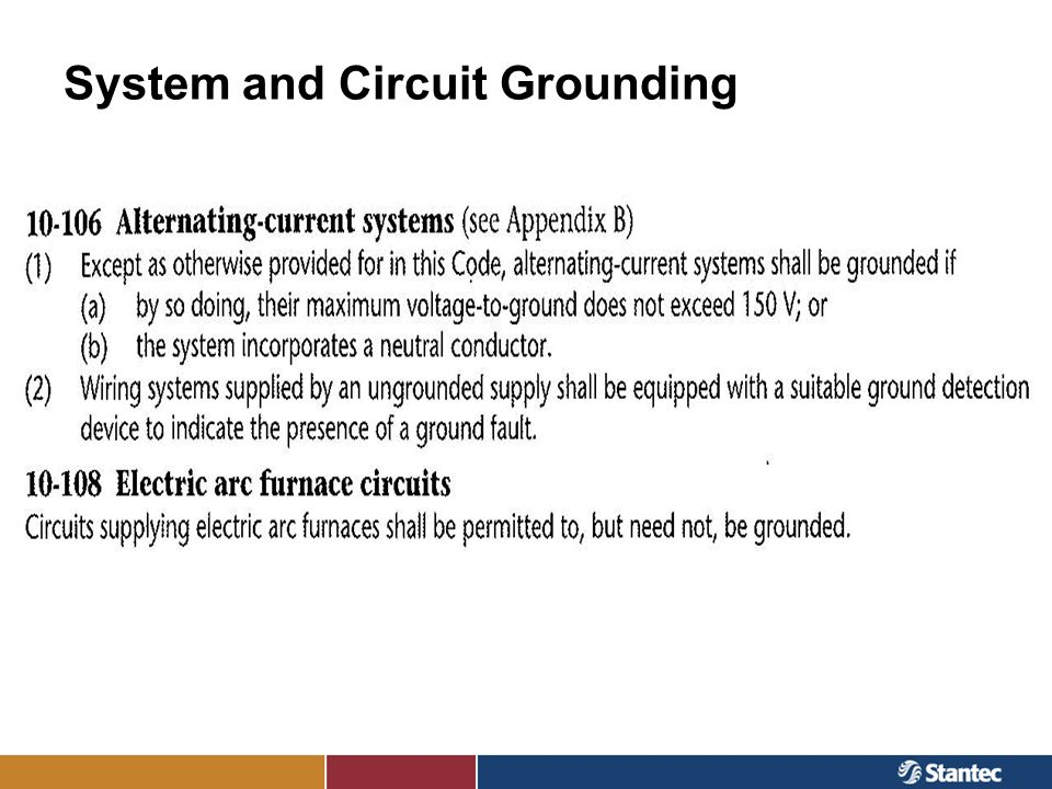 System and Circuit Grounding