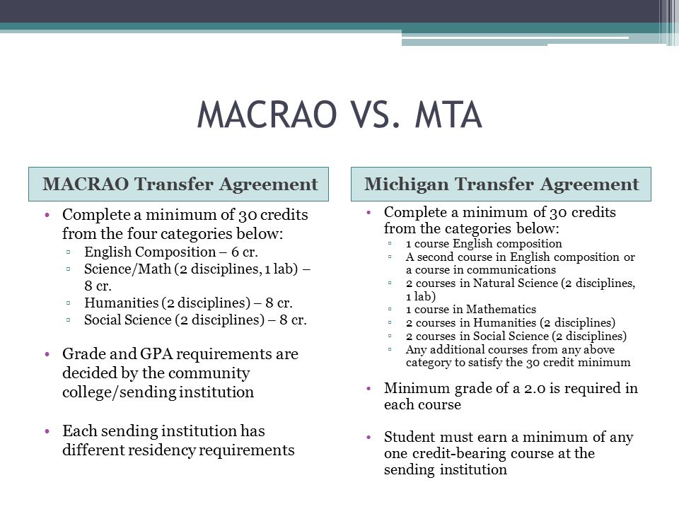 Michigan Transfer Agreement Ppt Video Online Download